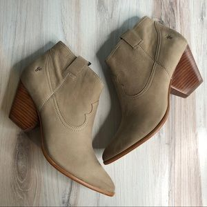 New FRYE Reina Ash Leather Booties 11 M